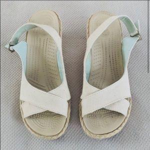 Crocs mini Wedge Sandal EUC
